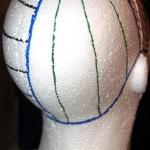 główka styropianowa podstawowa z zaznaczonymi sekcjami i różnymi separacjami dla porównania - P.P.H.U. SUZI