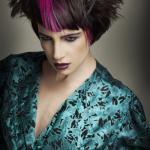 Debbie G, Wonderland, fryzury, stylizacja vintage, kształty, bogate tony, loki, tekstura, geometria w strzyżeniu