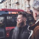 Barbers, barbering, kolekcja męskiego fryzjerstwa, fryzjer, męskie trendy, tekstura, gradacja, pompadour, fade cut, krótkie włosy, pełna broda, styl, pasma