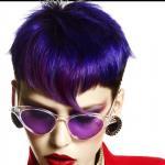 Shogo, retrotic, projektowanie fryzur, sztuczna inteligencja, kolory uzupełniające, fioletowe, suzi, FRK.03