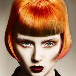 David Barron, precyzyjne strzyżenie, wibrujące kolory, odważne barwy, fryzury, kolekcja, kontrast